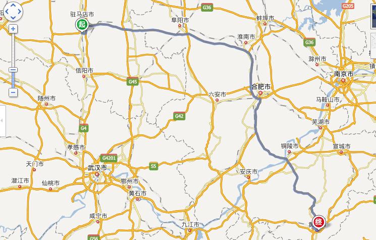 确山各乡镇地图