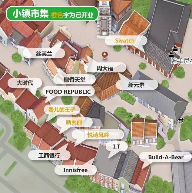 上海迪斯尼小镇示意图