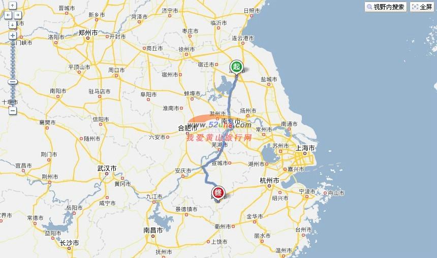 朝九华山/青阳/合肥/黄山市方向
